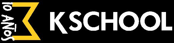 Logo KSchool en blanco (10 Aniversario)
